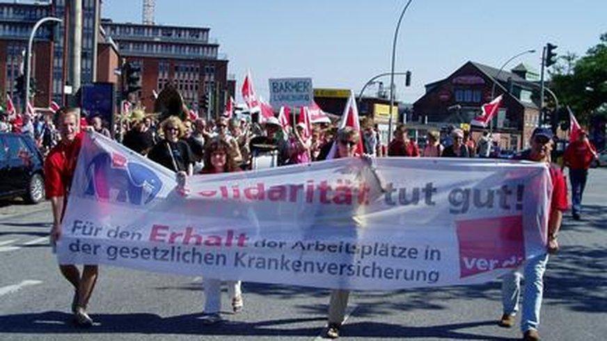 """Demonstration Fachbereich Krankenversicherung """"Solidarität tut gut!"""""""