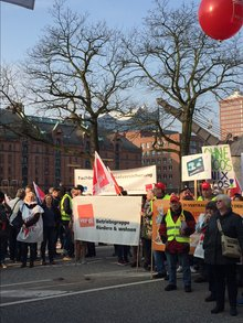 Warnstreik Tarifrunde ÖD 12.04.2018 Hamburg